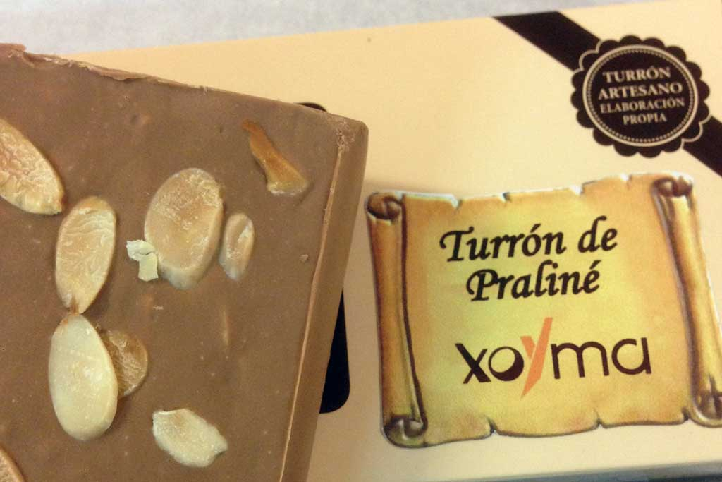 Turrón de chocolate y almendras de Praliné